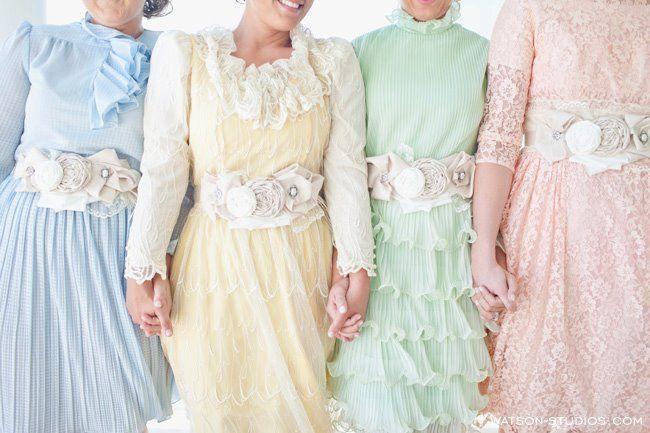 Pastell Hochzeit Weinlese Pastell Brautjungfern 2055745 Weddbook