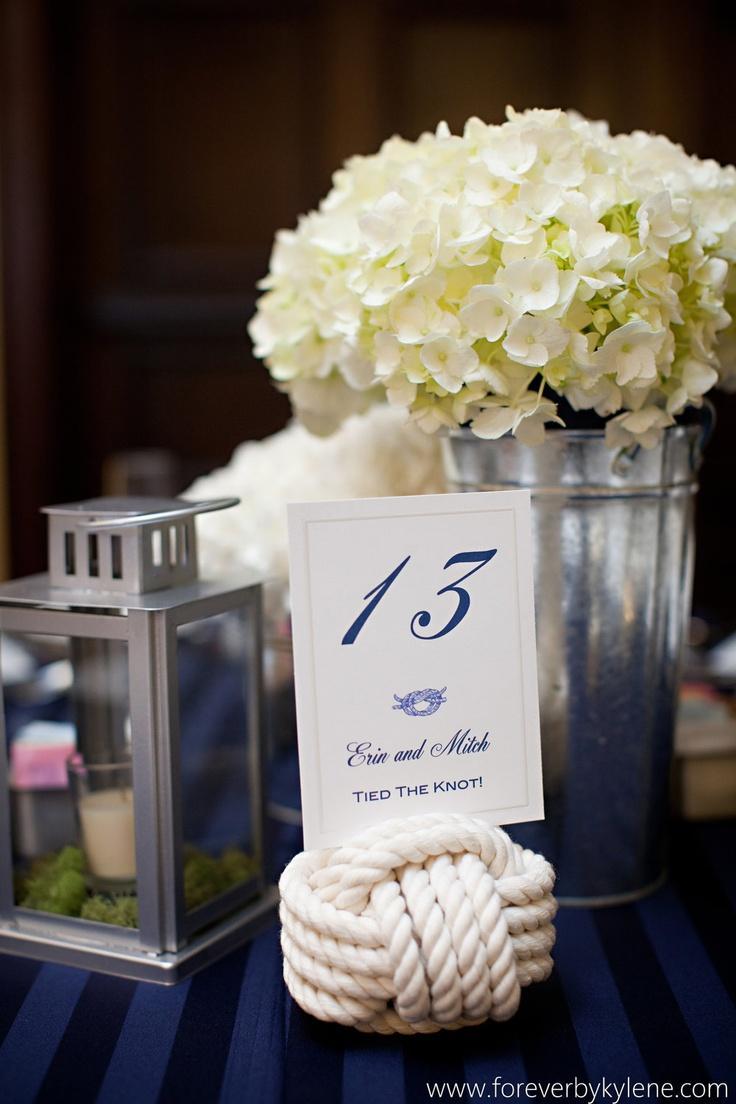 Свадьба - Морских Свадьбы - 20 Морских Веревку Таблице Количество Держателей - Набор Из 20 Свадьбы Узлов - Отлично Подходит Для Свадьба На