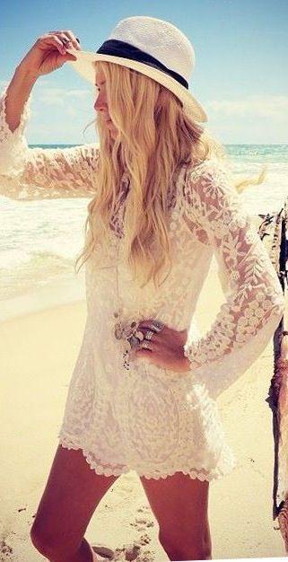 beach wedding lace beach bikini coverup �� 2055798