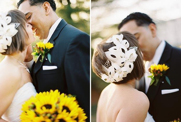 Mariage - Tournesol Rempli de mariage Rouge Jaune Dans le New Jersey