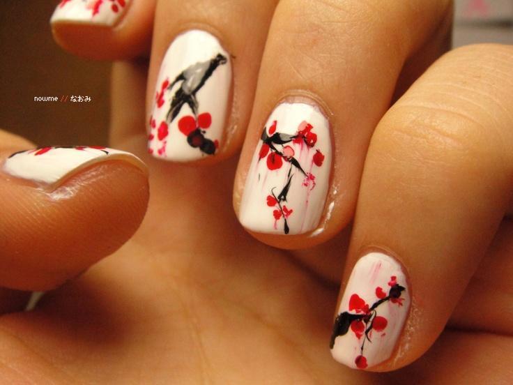 Hochzeit - Cherry Blossom Nails