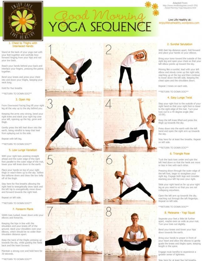Gesundheit Und Schönheit Guten Morgen Yoga Sequenz