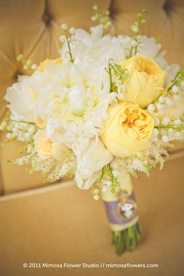 Wedding - White And Yellow Bouquet
