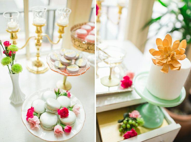 Mariage - Scintillante rose et or mariage Inspiration