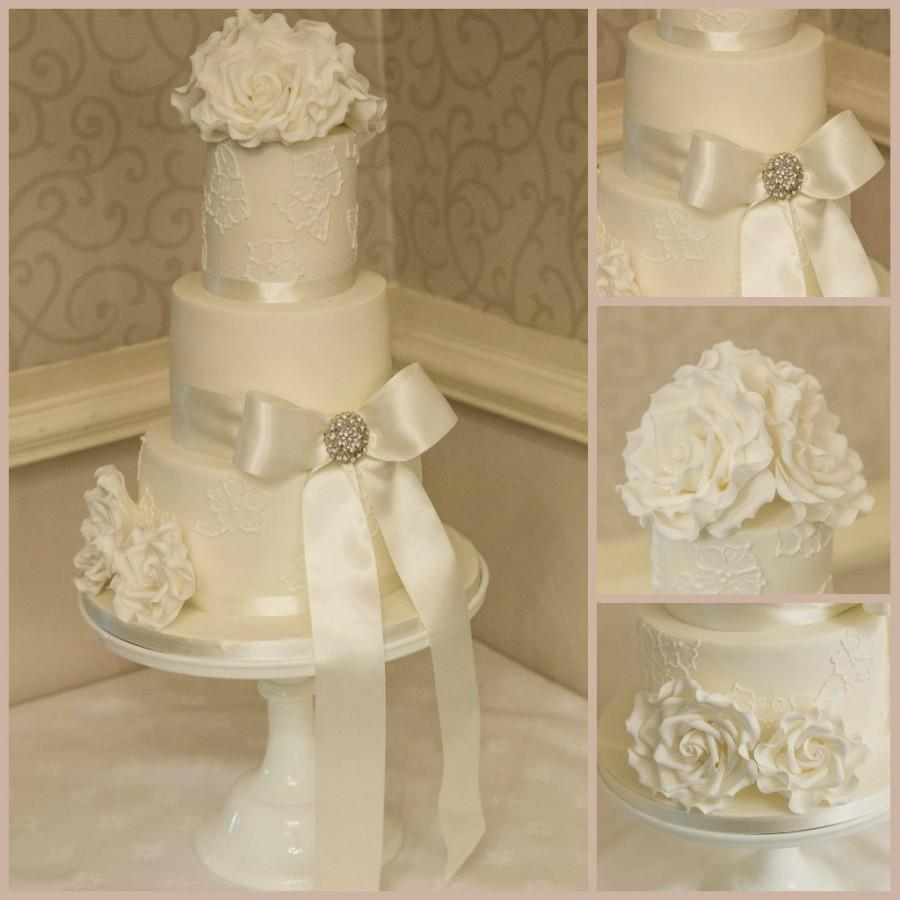 Wedding cakes brush embroidery cake weddbook