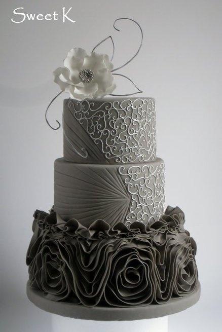 Hochzeitstorten Elegant Gray Hochzeitstorte 2056091 Weddbook