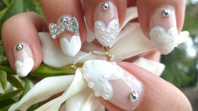 Beautiful wedding manicure