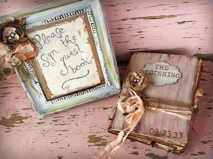 Rustic Guest Book Wedding Bird S Nest Custom 8 1 2 X 11