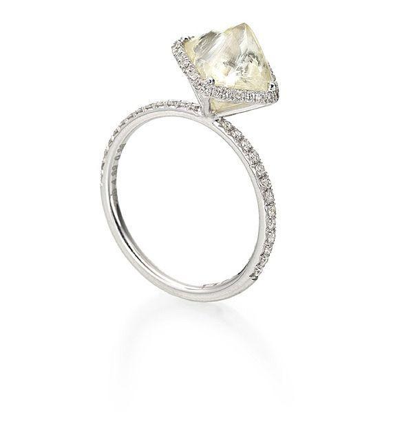 Diamond in the rough unique engagement rings 2056321 weddbook
