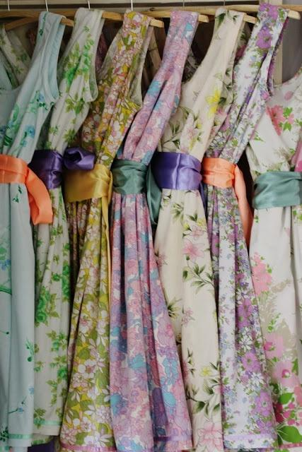 Wedding - Pretty Dresses Made From Vintage Sheets.