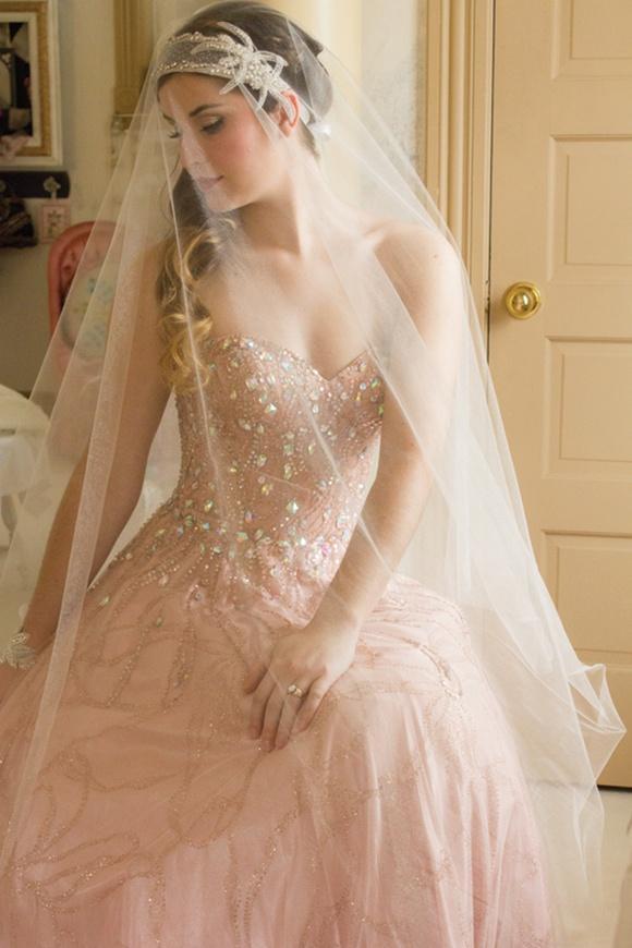 Blush wedding blush beauty 2056679 weddbook for Blushing pink wedding dress
