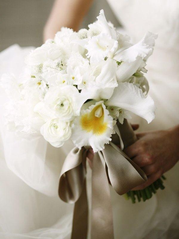 Wedding - White Cattleya Orchids