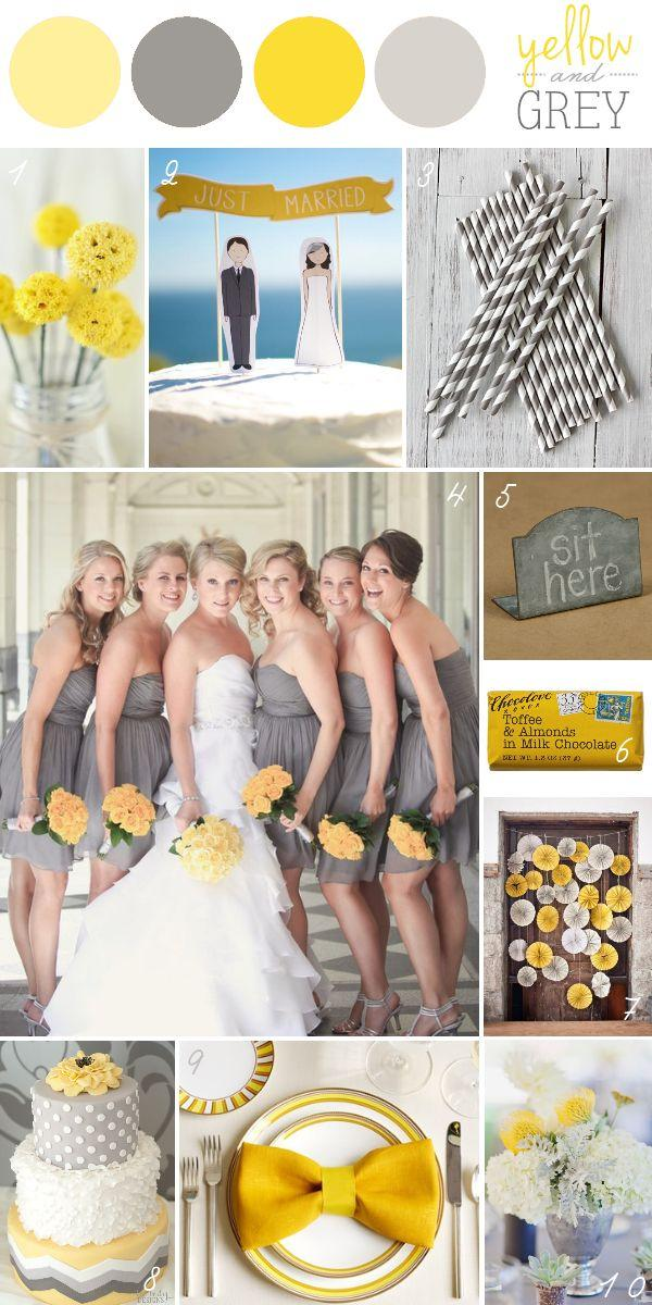 Yellow Wedding - Yellow & Grey Wedding Color Palette #2056705 ...