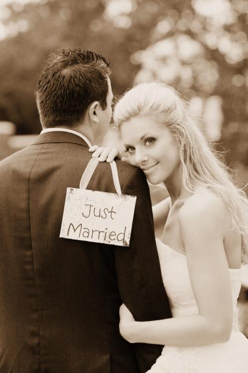 Mariage - La photo de mariage ... mignon ...