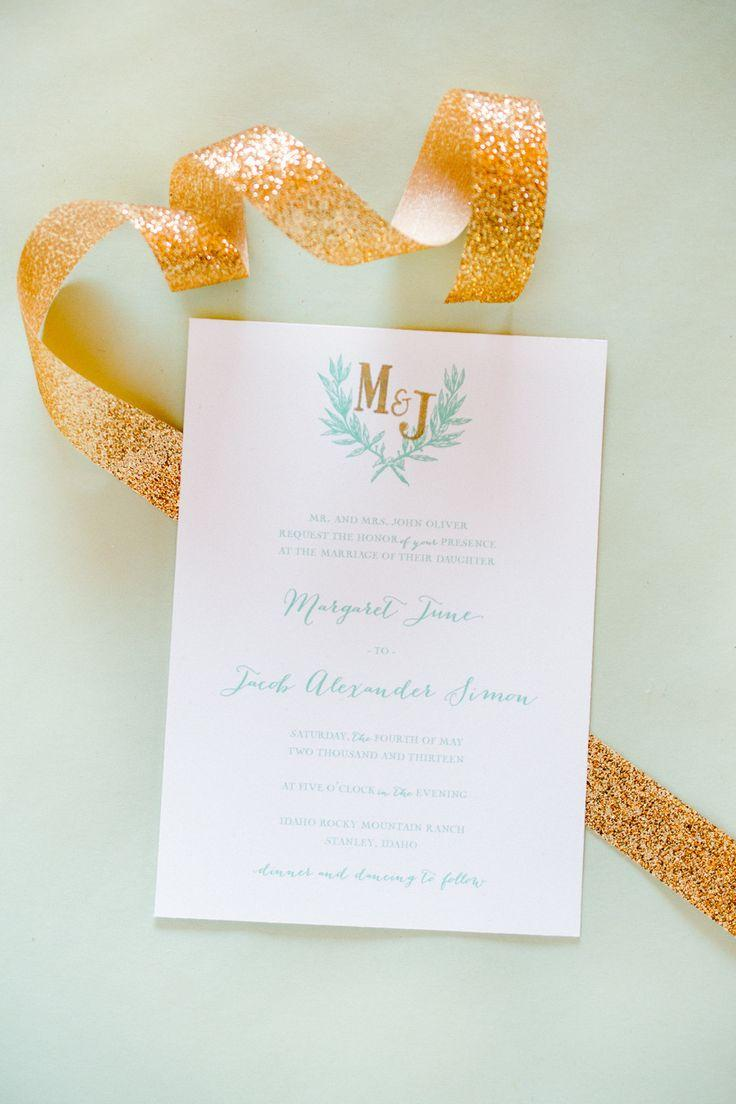Wedding - Mint And Gold