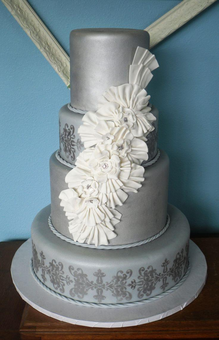 Cake Decorations For Silver Wedding : Silver Wedding - Silver Wedding Cakes #2056920 - Weddbook