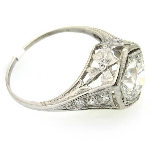 Wedding - 1920s Platinum Hexagon Ring