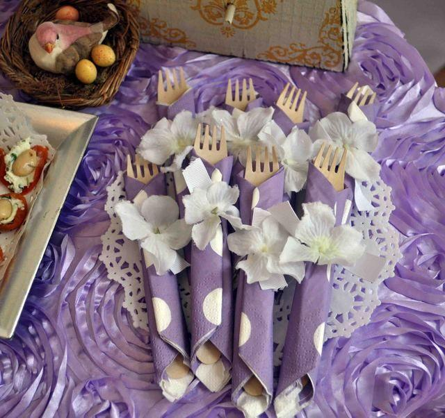 Lavender Baby Bird Shower Baby Shower Party Ideas