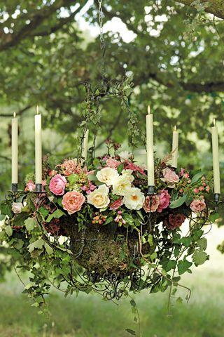 Garten Hochzeits Dekoration Sommernachtstraum Inspirierten Setting