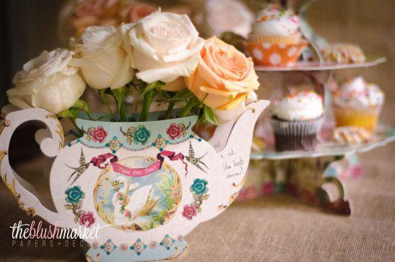 Teapot Vase Vintage Design Reusable Made Of Paper 2057210 Weddbook