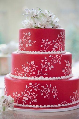 Rote Hochzeits Rote Hochzeitstorte 2057380 Weddbook