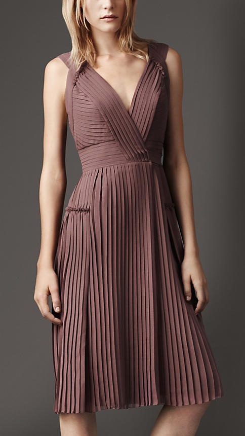 Burberry London Pleated Wrap Dress