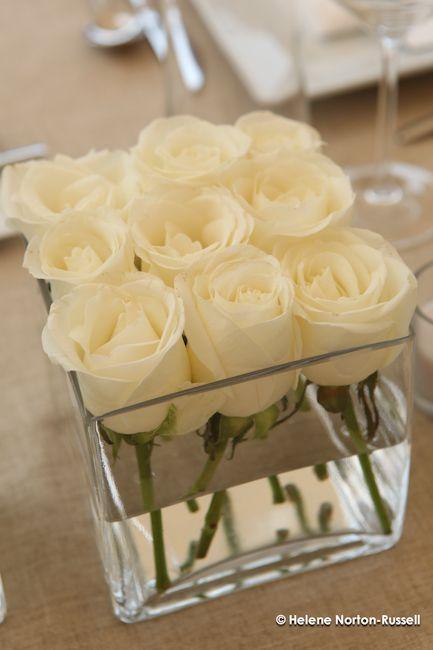 Spring wedding idea for dollar store square vases