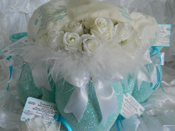 Wedding centerpiece wedding decoration shabby chic for Baby blue wedding decoration ideas