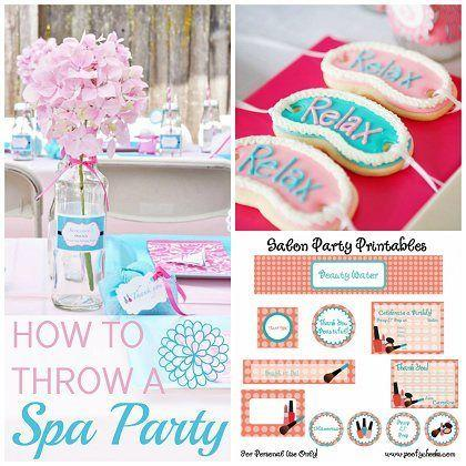 how to throw a fabulous kids spa party