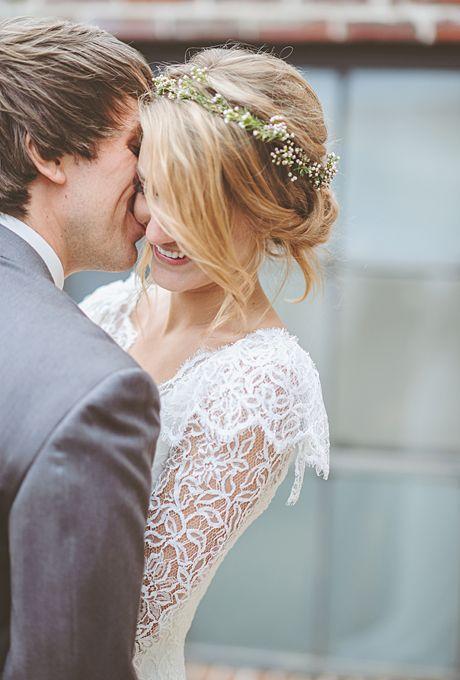 Blumen Kronen Fur Ihre Hochzeit Hochzeit Frisuren Mit Blumenkronen