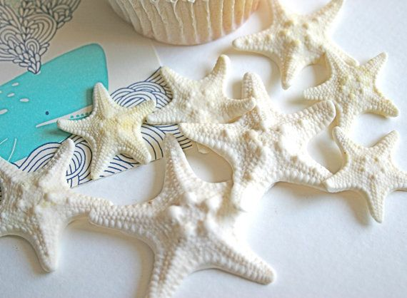edible mini armored starfish cake topper cake embellishment