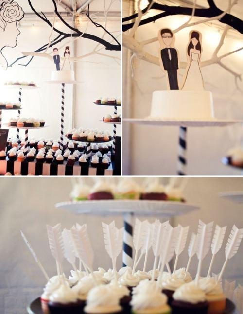 Wedding - Black And White Cupid Theme!