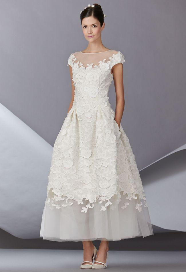 carolina herrera fall 2014 wedding dresses 2057813 weddbook