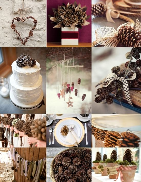 Winter wedding pine cone wedding decoration ideas 2057887 pine cone wedding decoration ideas junglespirit Images