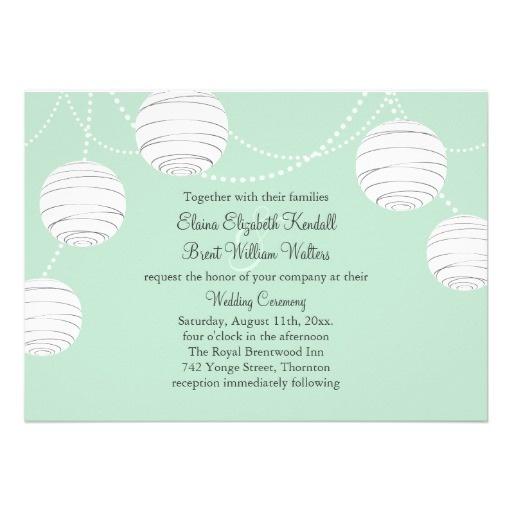 laternen-party hochzeits-einladung mint green #2057952 - weddbook, Einladung