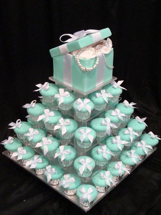 Tiffany Blue Wedding - Tiffany Cupcake Tower #2057989 - Weddbook