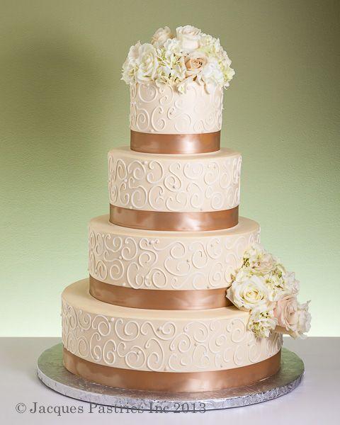 Ribbed Fondant Cake