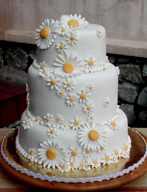 Gelbe Hochzeits Ganseblumchen Hochzeitstorte 2058020 Weddbook