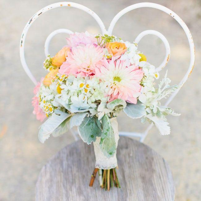Hochzeit - Pastell Blumenstrauß