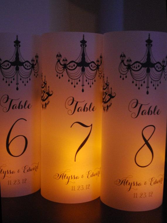 Eine tischnummer luminary hochzeit kerze pergament leuchten ...