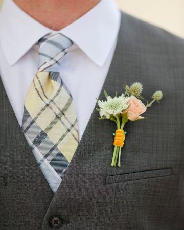 Свадьба - Спрей С Розовой Бутоньерка