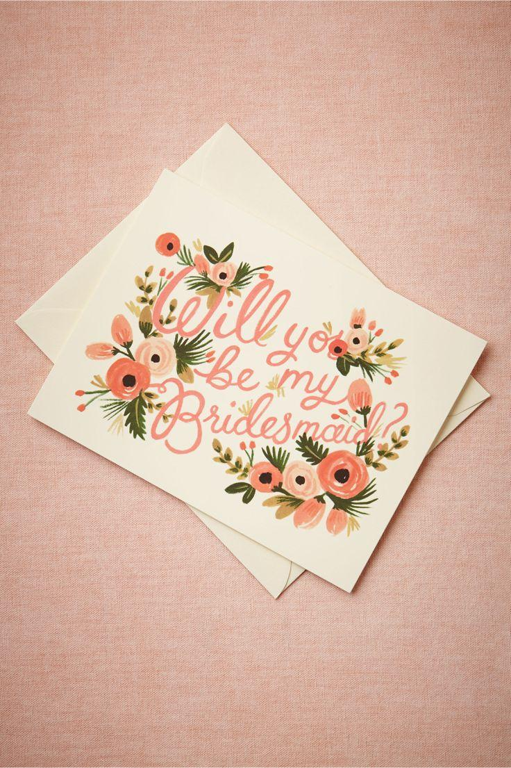Wedding - Blooming Bridesmaid Card