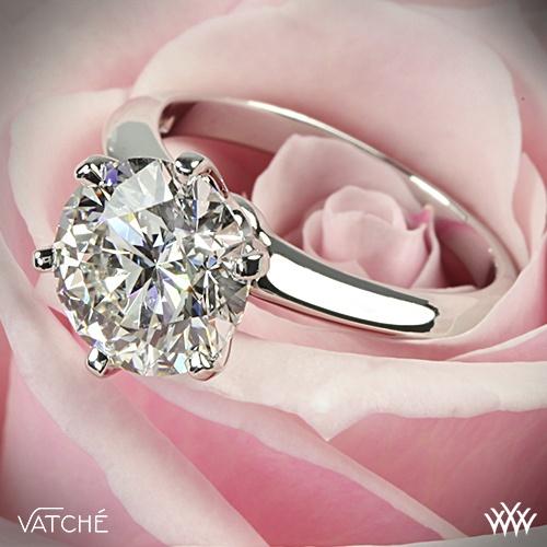 زفاف - البلاتين Vatche 6 الشق سوليتير خاتم الخطوبة