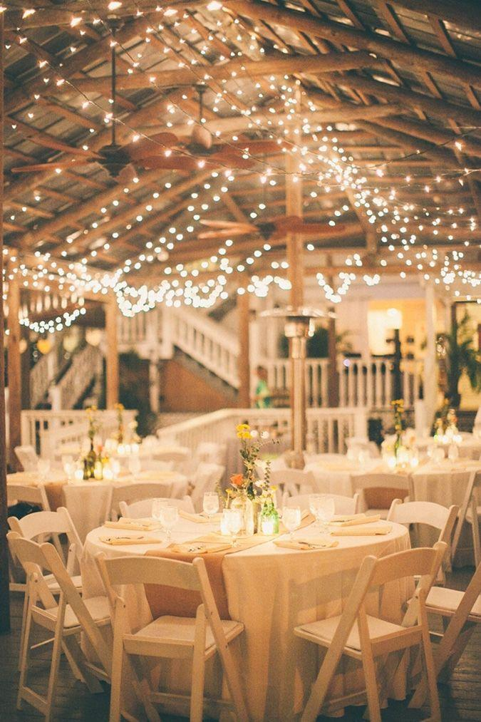Country wedding hanging lights 2058350 weddbook for Wedding hall decoration photos