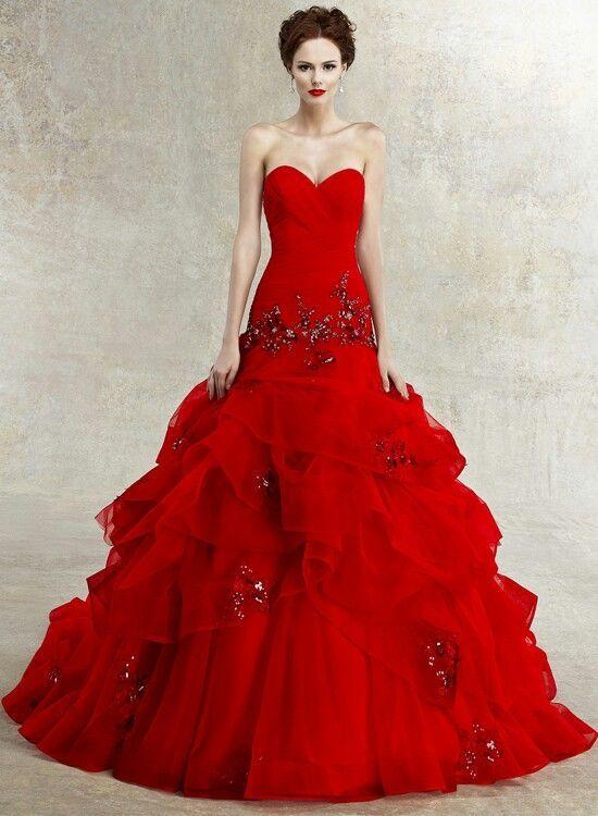 Красное платье для свадьбы фото