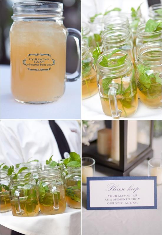 Wedding - Signature Drink In Mason Jars