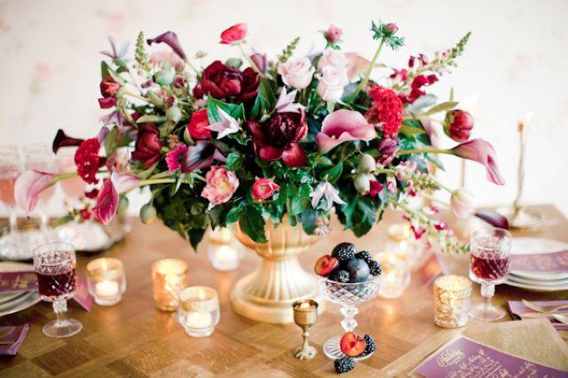 Mariage - Palette de couleurs de mariage mixte Berry