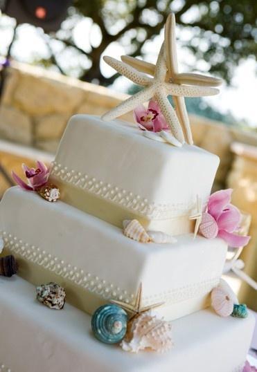 Wedding - Beach Wedding Cake.