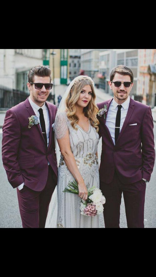 Burgundy Wedding - Burgundy Suits #2058682 - Weddbook