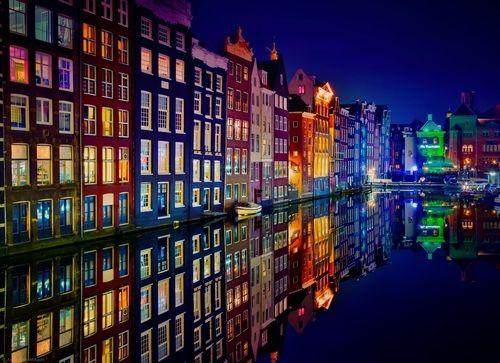 Wedding - Night Lights, Amsterdam, The Netherlands